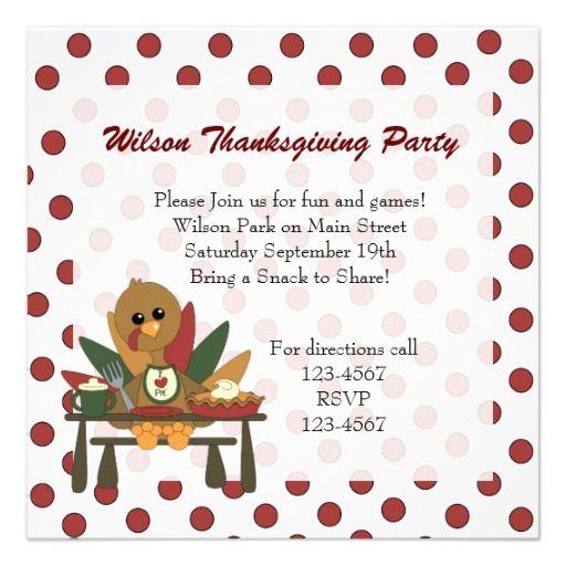 Turkey thanksgiving personalized invitation kids holiday turkey thanksgiving personalized invitation stopboris Images
