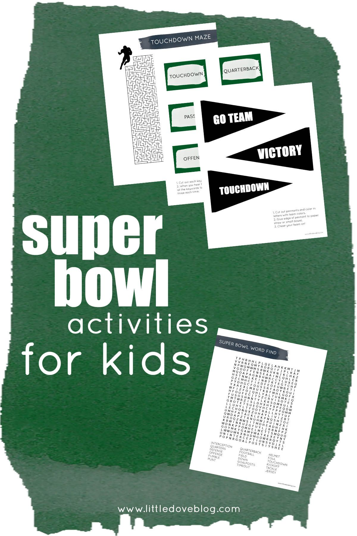 Super Bowl Activities And Worksheets For Kids In