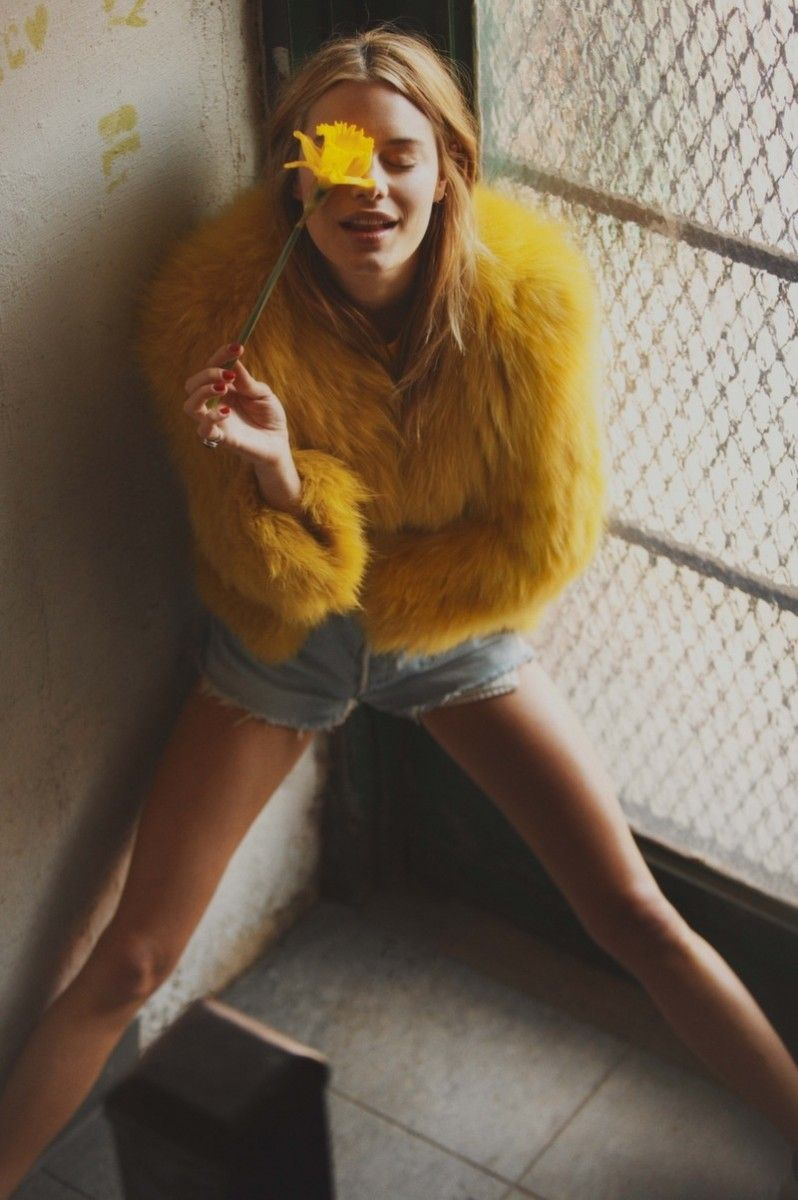 Fur never die! Shop here: http://goo.gl/tbxbqG Camille Rowe Poses for Guy Aroch in So It Goes Magazine