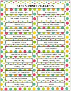 Baby Shower Charades Party Ideas Pinterest Baby Shower Baby