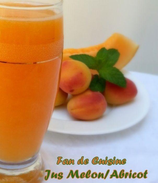 Jus de melon et abricot