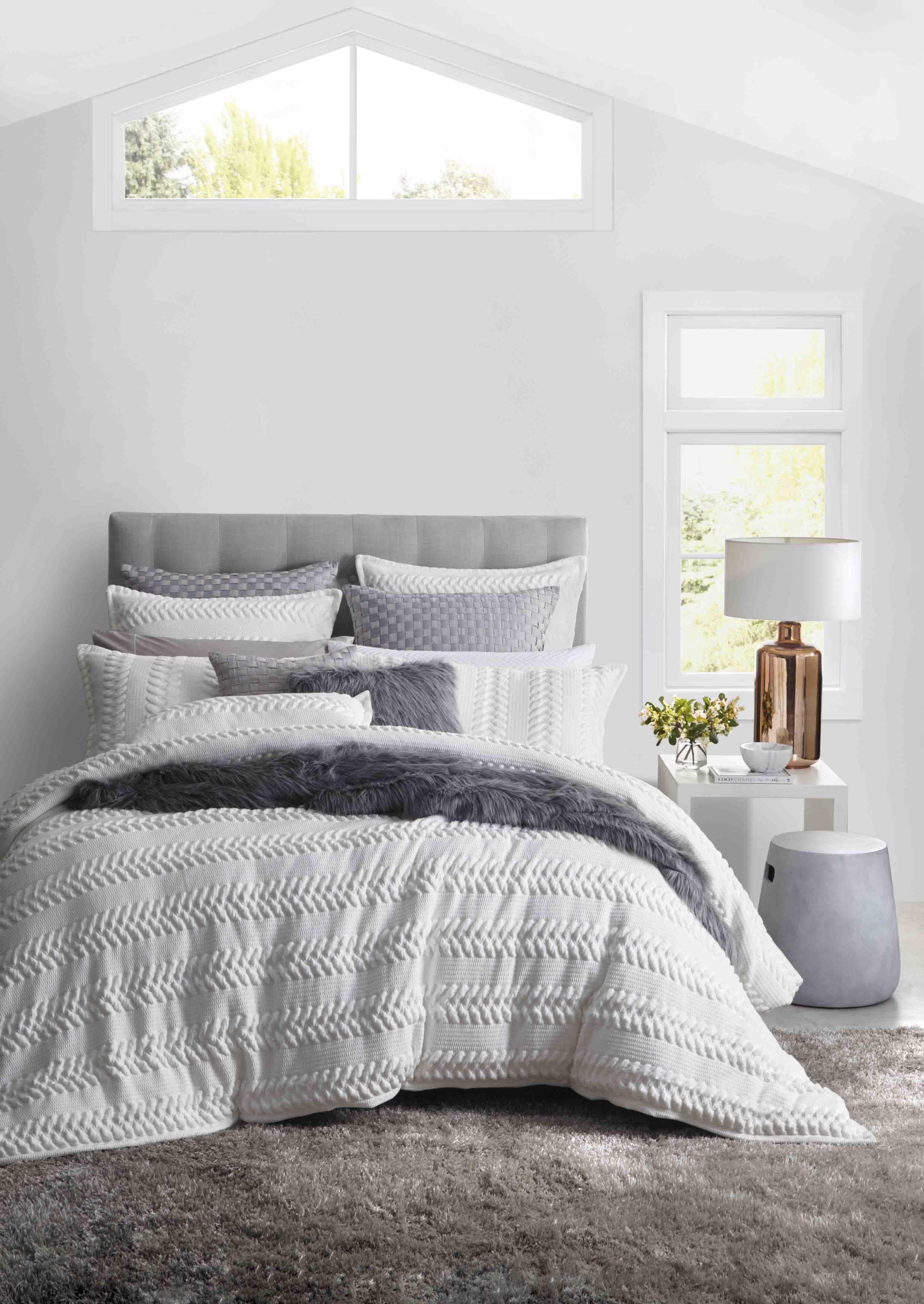 PRIVATE COLLECTION - Lizette White Quilt Cover Set #white #Linen ...