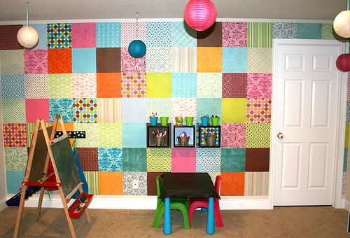 so easy! scrapbook paper.