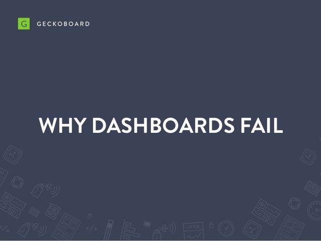 Why Dashboards Fail by Geckoboard via slideshare
