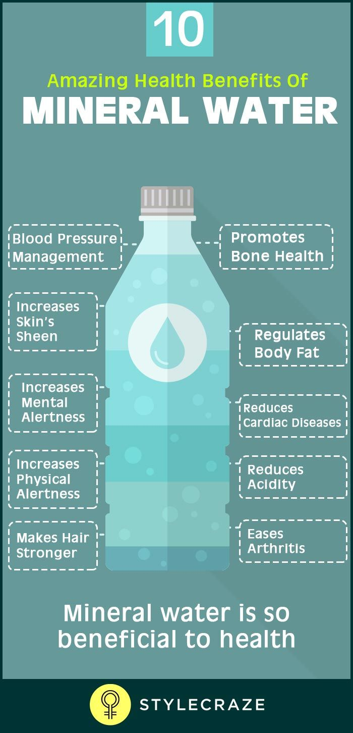 10 Amazing Health Benefits Of Mineral Water Mineral