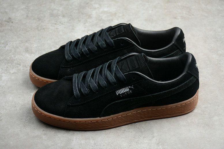 2018-2019 New Arrival Men Puma Suede Classic Citi Casual Sneaker Black  Brown 362551- c4ab9958a