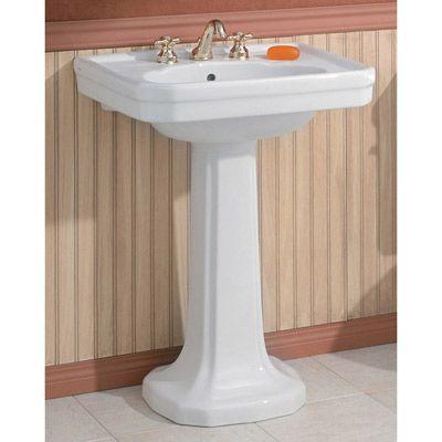 Cheviot Large Mayfair Pedestal Sink Lavatory 8inch Faucet Drillings Bathrooms Vintage Tub Pedestal Sink Sink