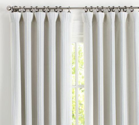 Riviera Stripe Blackout Curtain Charcoal Curtains Blackout Curtains Custom Drapes