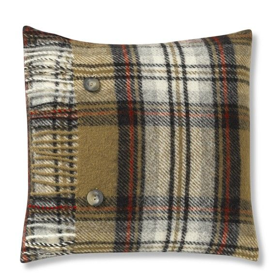 Cynthia Rowley Fringe Pillows: Tartan Wool Pillow Cover With Fringe