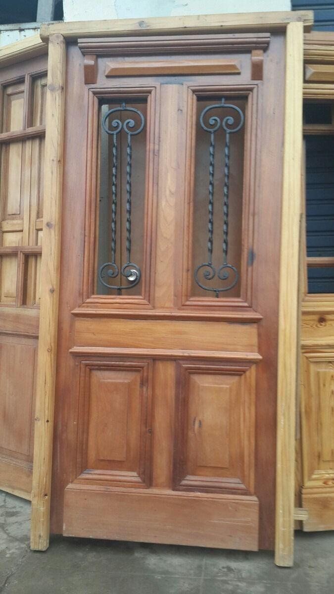 Puertas de entrada pinotea cedro doble y simple puertas de entrada en 2019 puertas - Puertas de madera exterior rusticas ...