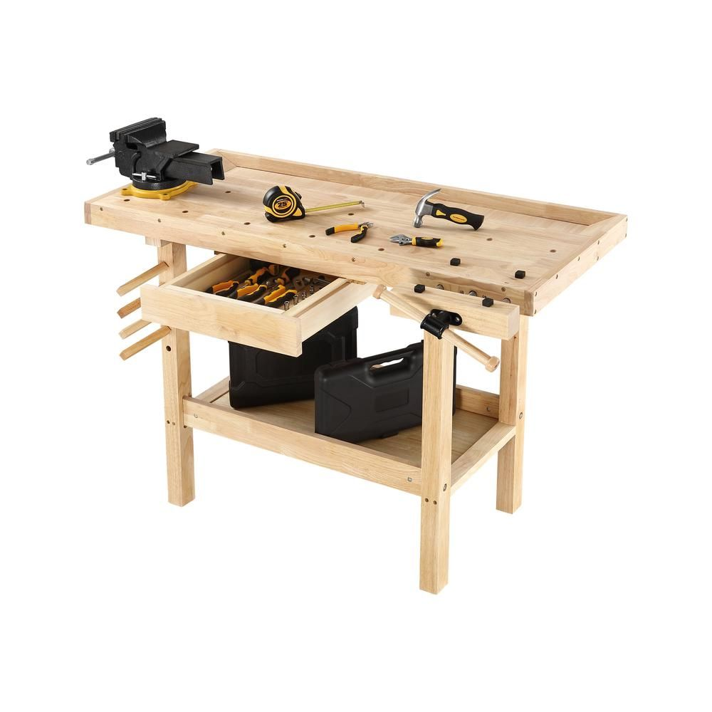 Excellent Olympia 4 Ft X 2 Ft 330 Lbs Hardwood Workbench With Built Short Links Chair Design For Home Short Linksinfo