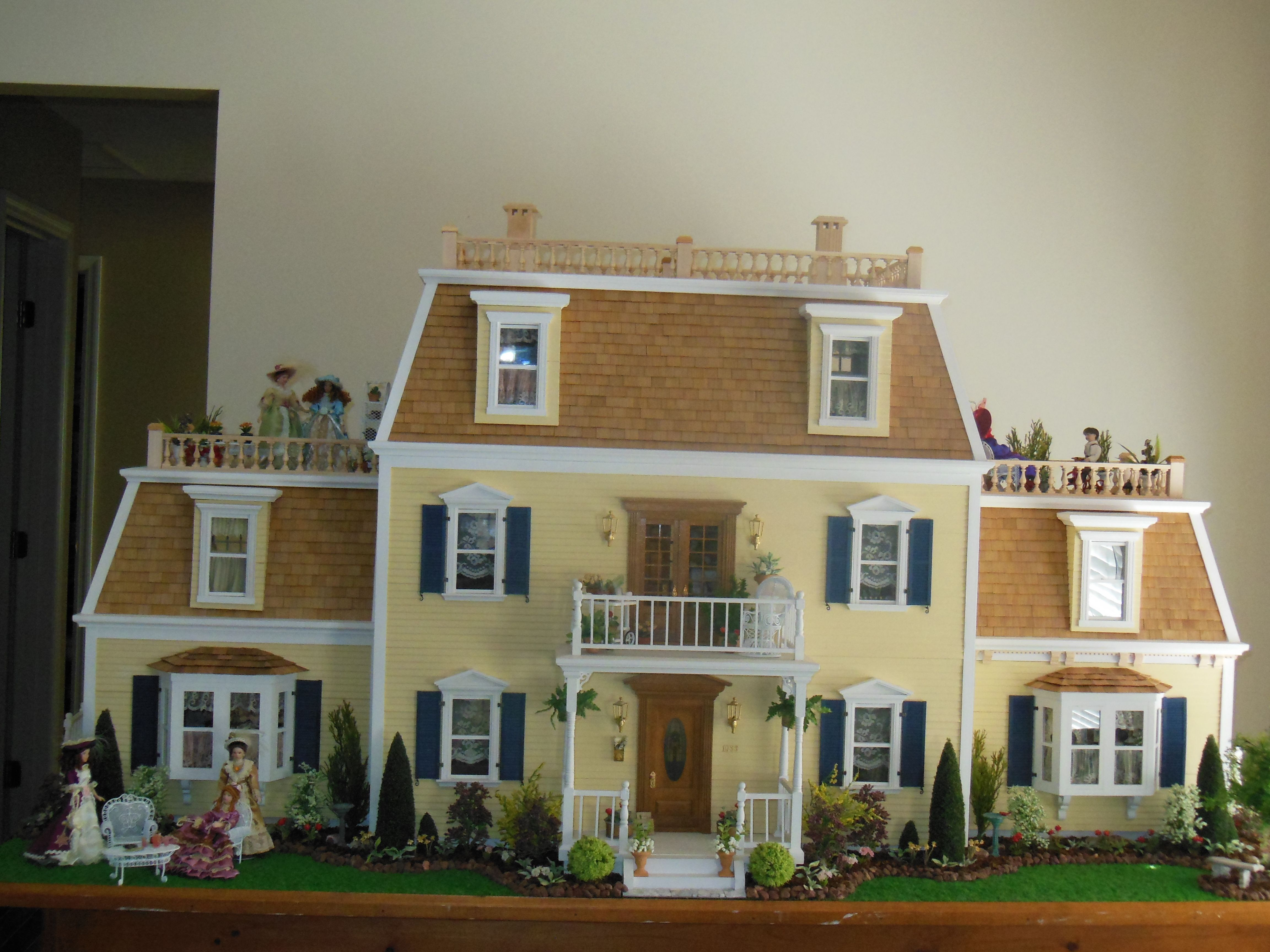 Hofco Federal Victorian Dollhouse front exterior | Dollhouse ...