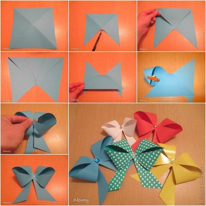 Wonderful Diy Pretty Paper Bow Diy Gift Bow Paper Bow Diy