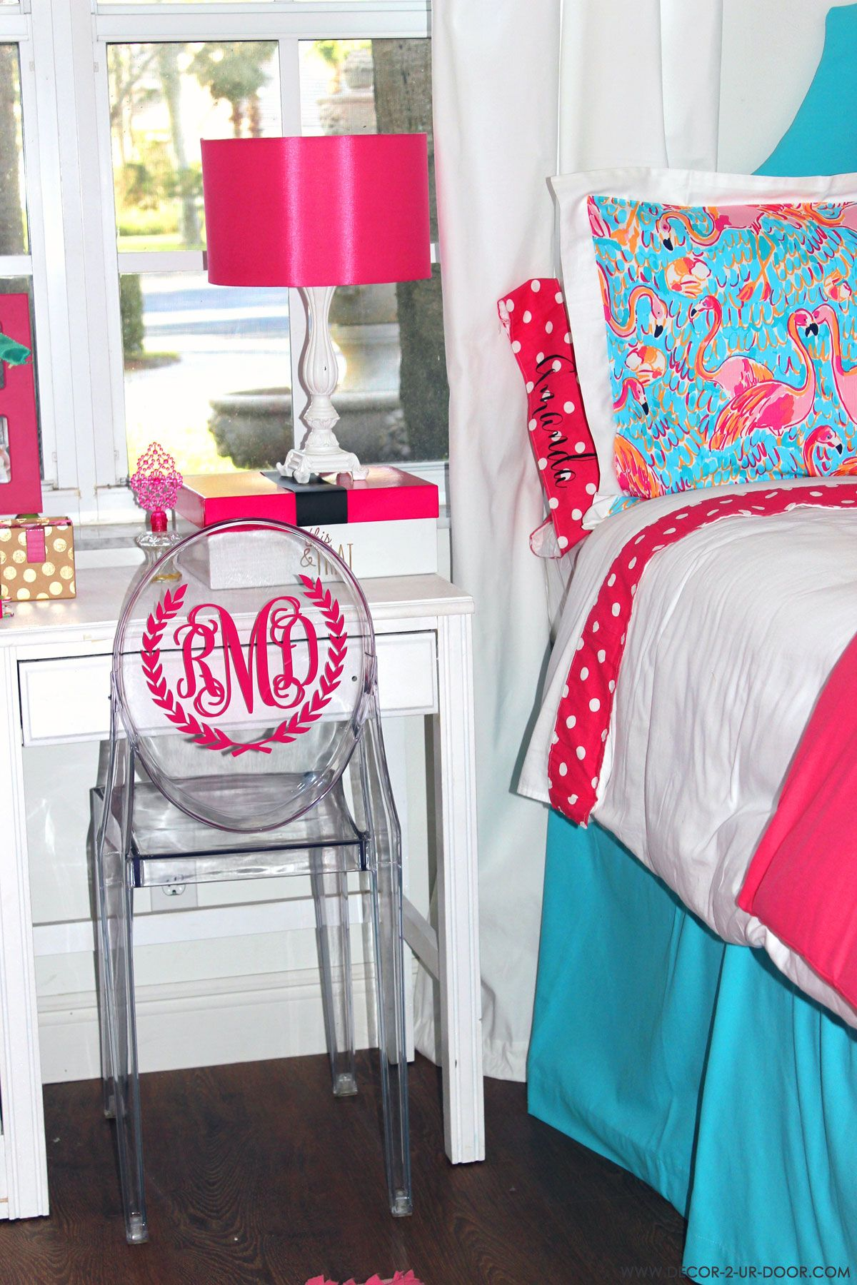 Lilly Pulitzer dorm room Monogram Chair for Dorm Room | Lilly ...
