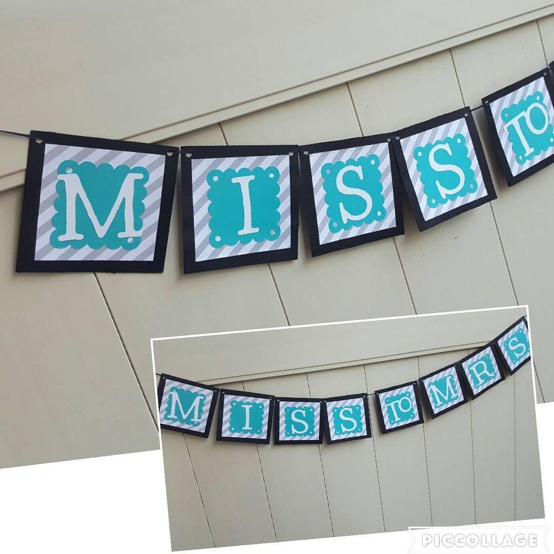 Pre♡wedding fun  #misstomrs💍 #bridalshower #wedding   #parties  #partybanner #decorations #bridalshowerbanner #squarebanner #banners