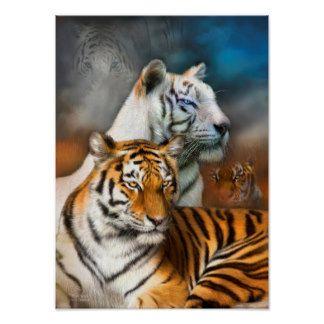 Tiger Spirit Fine Art Poster Print Poster Zazzle Com In 2021 Tiger Pictures Big Cats Art Big Cats