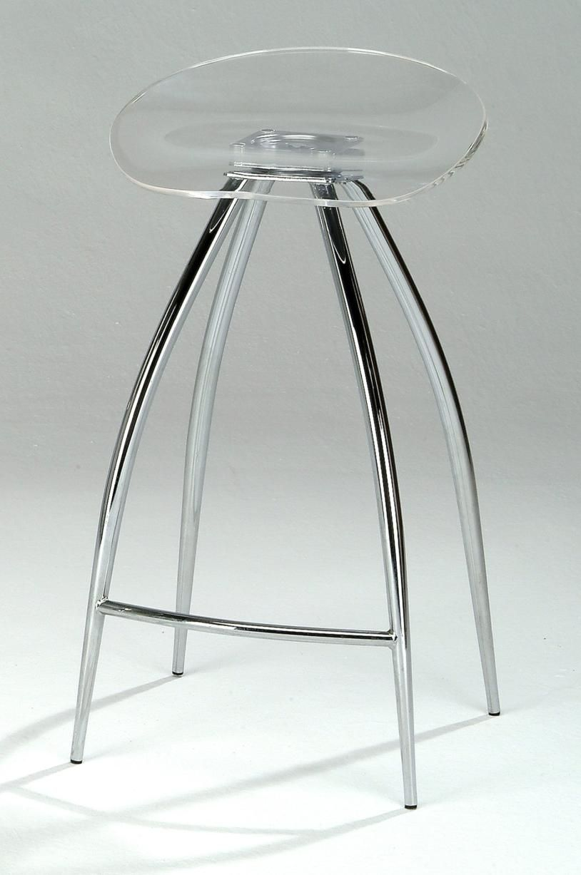 Illustration of lucite counter stools for brand new kitchen decoration and airy feel seating