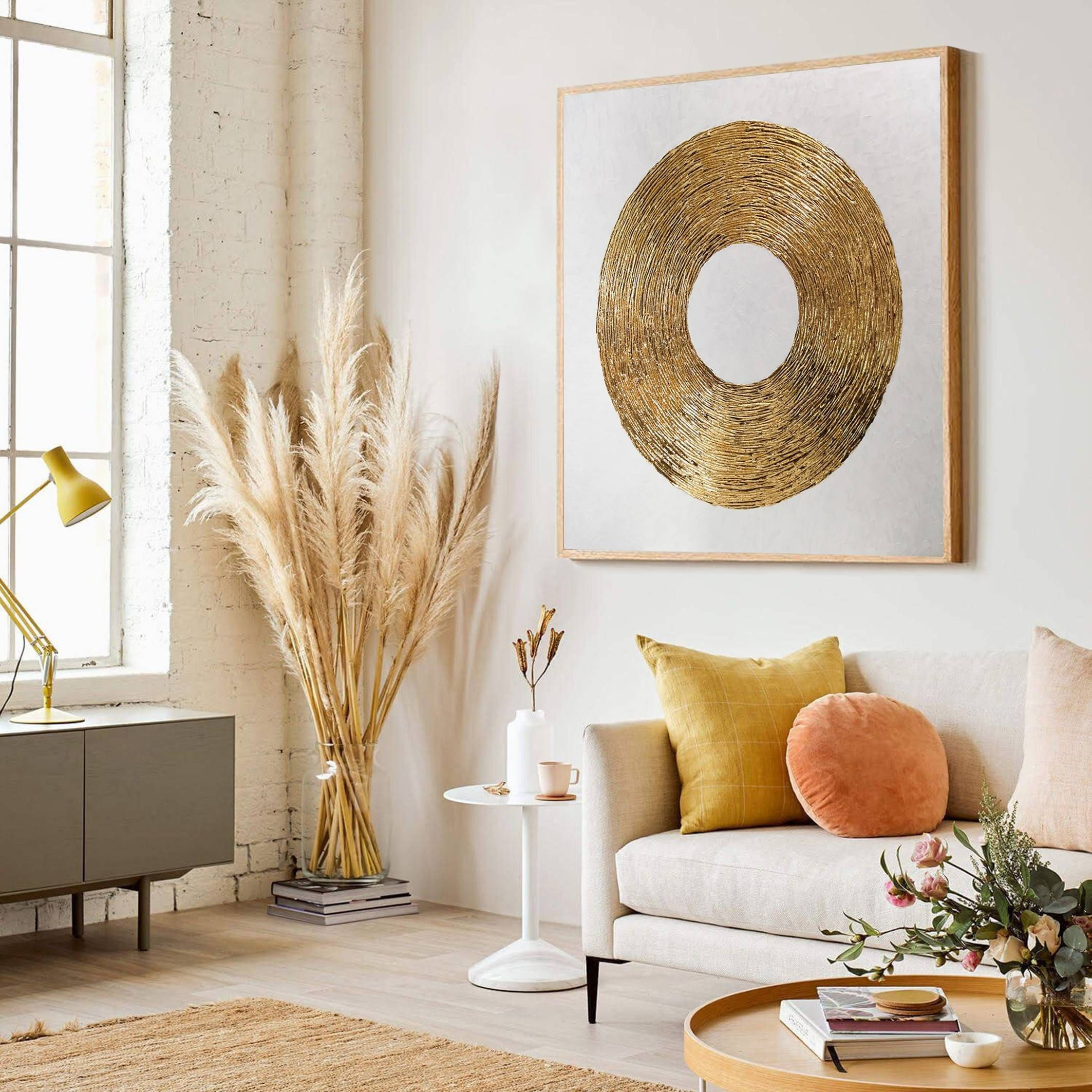 Gold Painting Gold Leaf Wall Art Foyer Wall Decor Master Etsy In 2021 Home Decor Living Room Designs Room Decor Home decor living room art