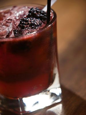 Berry Whiskey Smash (Maker's Mark, simple syrup, blackberries, & raspberries)