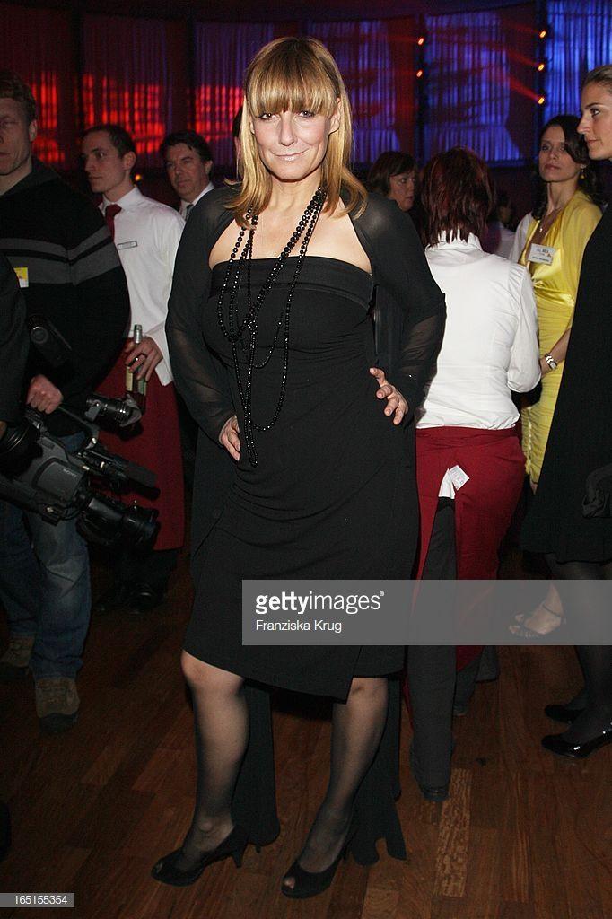 Moderatorin Kim Fisher Bei Der Verleihung Des Medienpreis
