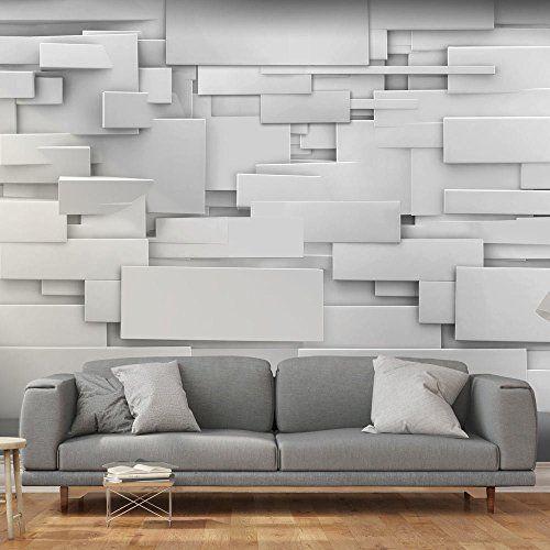 Murando papier peint intissé 400x280 cm papier peint tableaux muraux déco xxl 3d gris f a 0254 a a amazon fr bricolage
