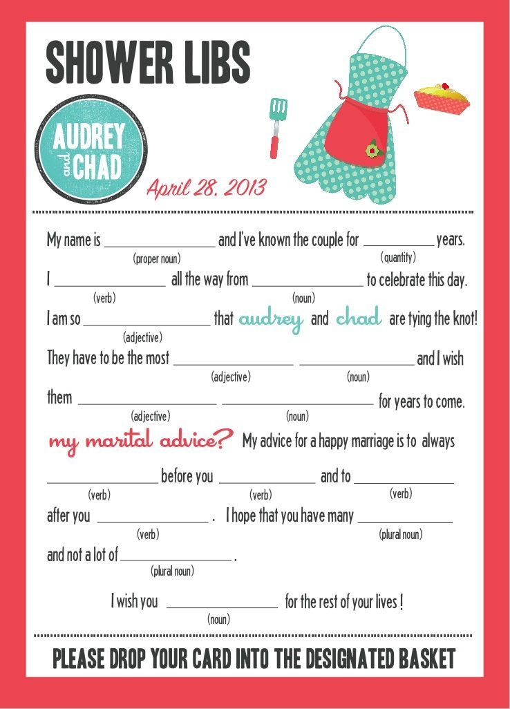 mad libs bridal shower edition kitchen party 2000 via etsy