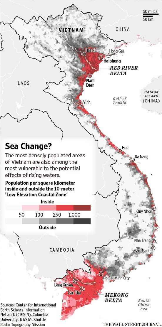 Map Vietnamu0027s most populated areas are among the most vulnerable to - fresh yemen in world map