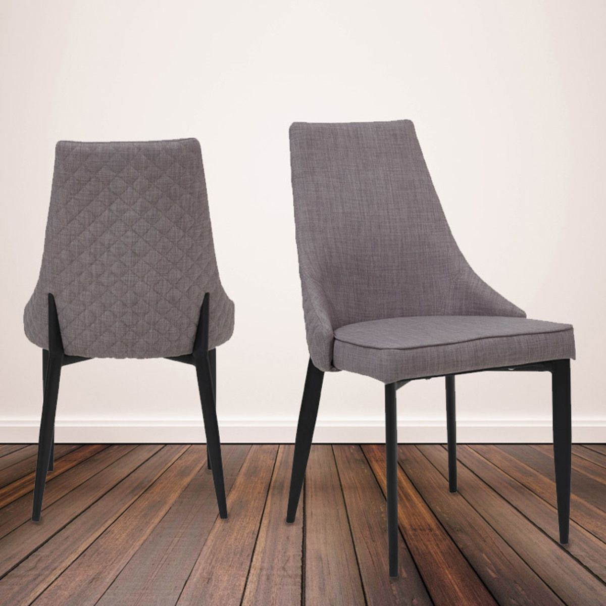 fabric dining chairs uk korda chair accessories parq quilted back grey 4 pack costco