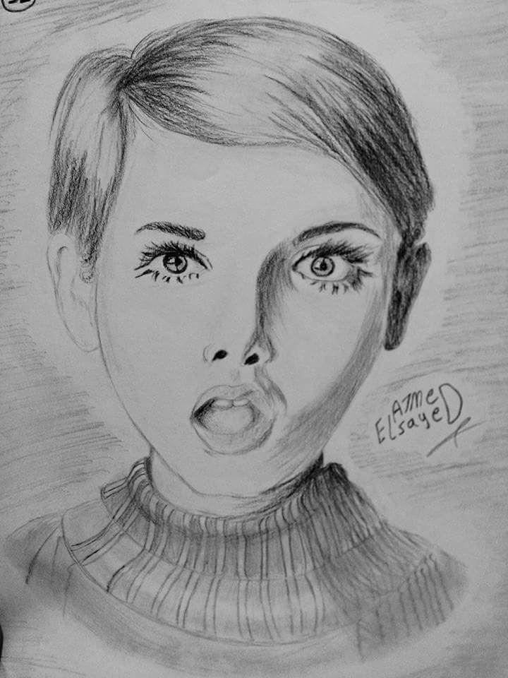 رسم فتاة أحمد السيد 15 سنة Art Male Sketch Male