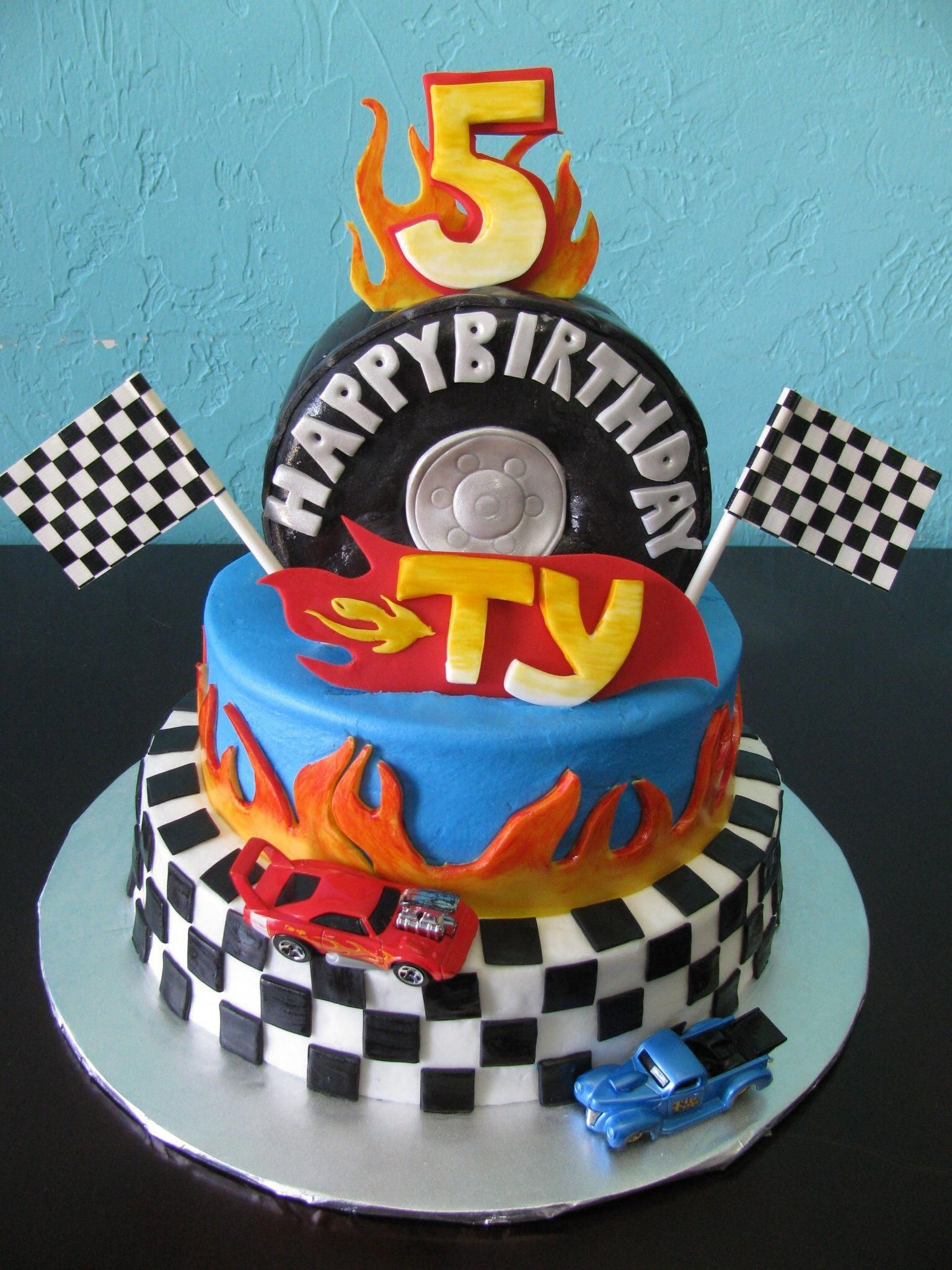 Hot Wheels Birthday Cake Boysbirthdaycakes With Images Hot