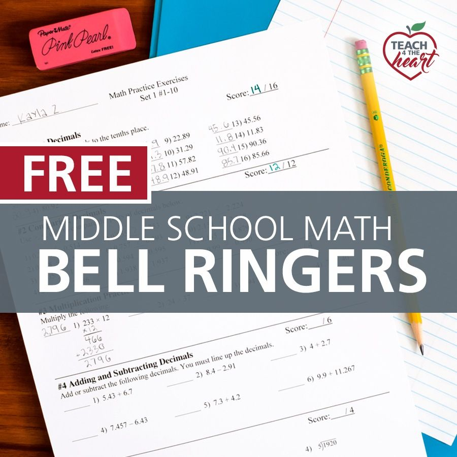 Bell Ringers for Middle School Math Single Set (Review