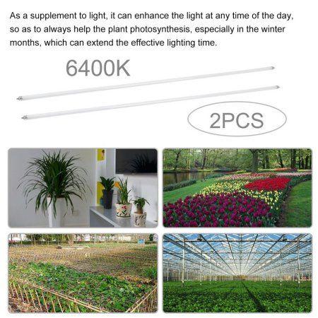 4ft Full Spectrum Plant Light 2 Pcs Fluorescent Lamp T5