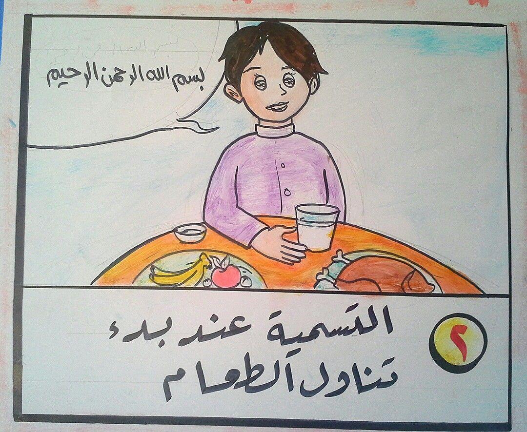 2 التسمية عند بدء تناول الطعام Islamic Kids Activities School Activities Islam For Kids