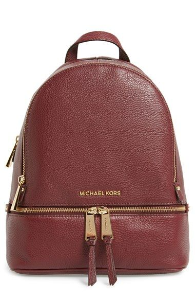 d2038145f97e Free shipping and returns on MICHAEL Michael Kors 'Small Rhea Zip' Leather  Backpack at