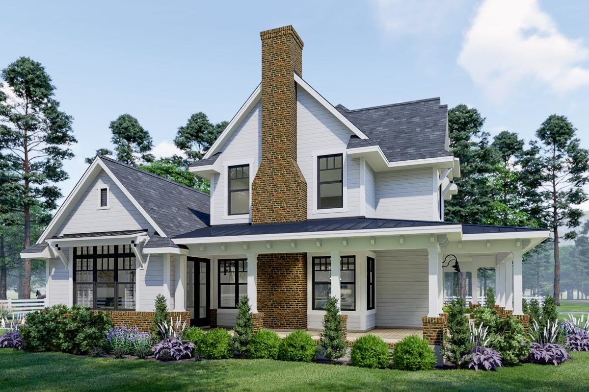 Plan 16908WG: Eye-catching Modern Farmhouse with two-story Great Room images