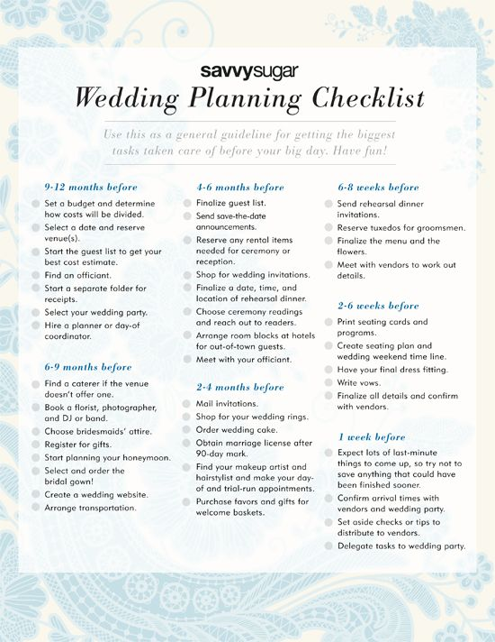 Wedding Planning Checklist Have A On Hand To Keep Yourself Organized During This Busy Time Create General Timeline For Brides Who Need