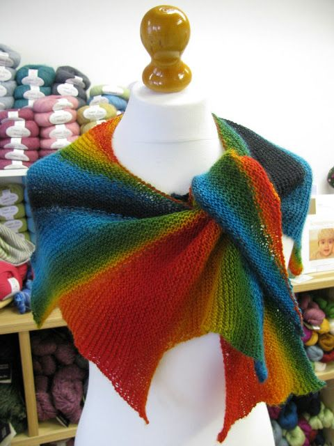 The Woolly Brew: Wingspan in Zauberball. One ball. free pattern on ...