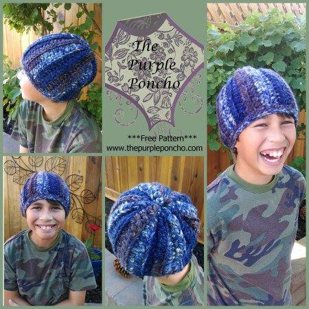 Turban Style Knit Hat Pattern Hdc