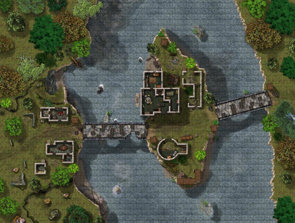 Watermill Assault, F1 (50ppi) [106x80] battlemaps