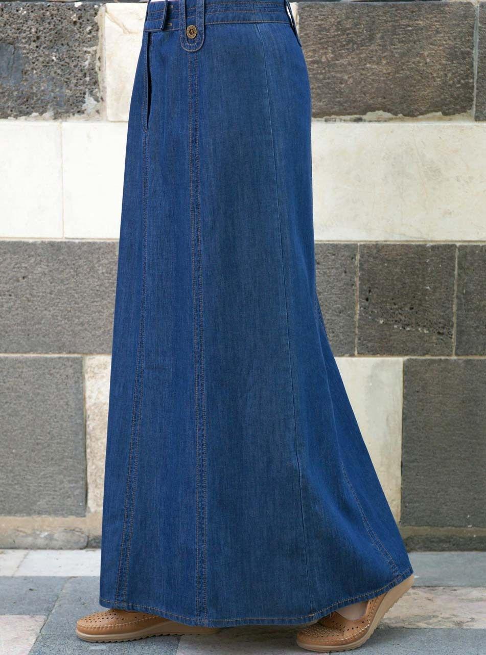 494ebf070e Denim Vera Skirt in 2019 | Evening dress | Womens maxi skirts, Maxi ...