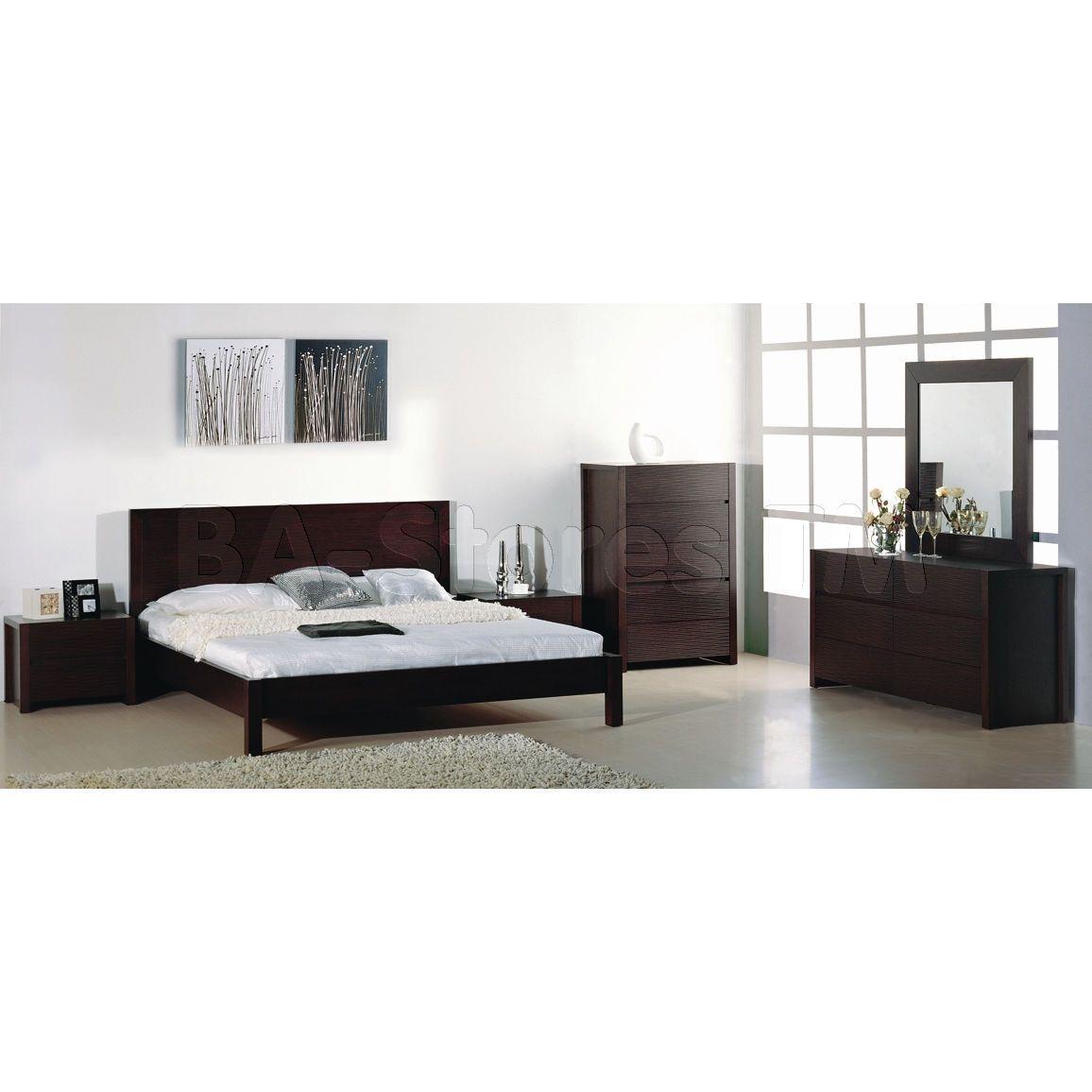 Best Etch 5 Pc Platform Bedroom Set In Wenge Bed 2 400 x 300