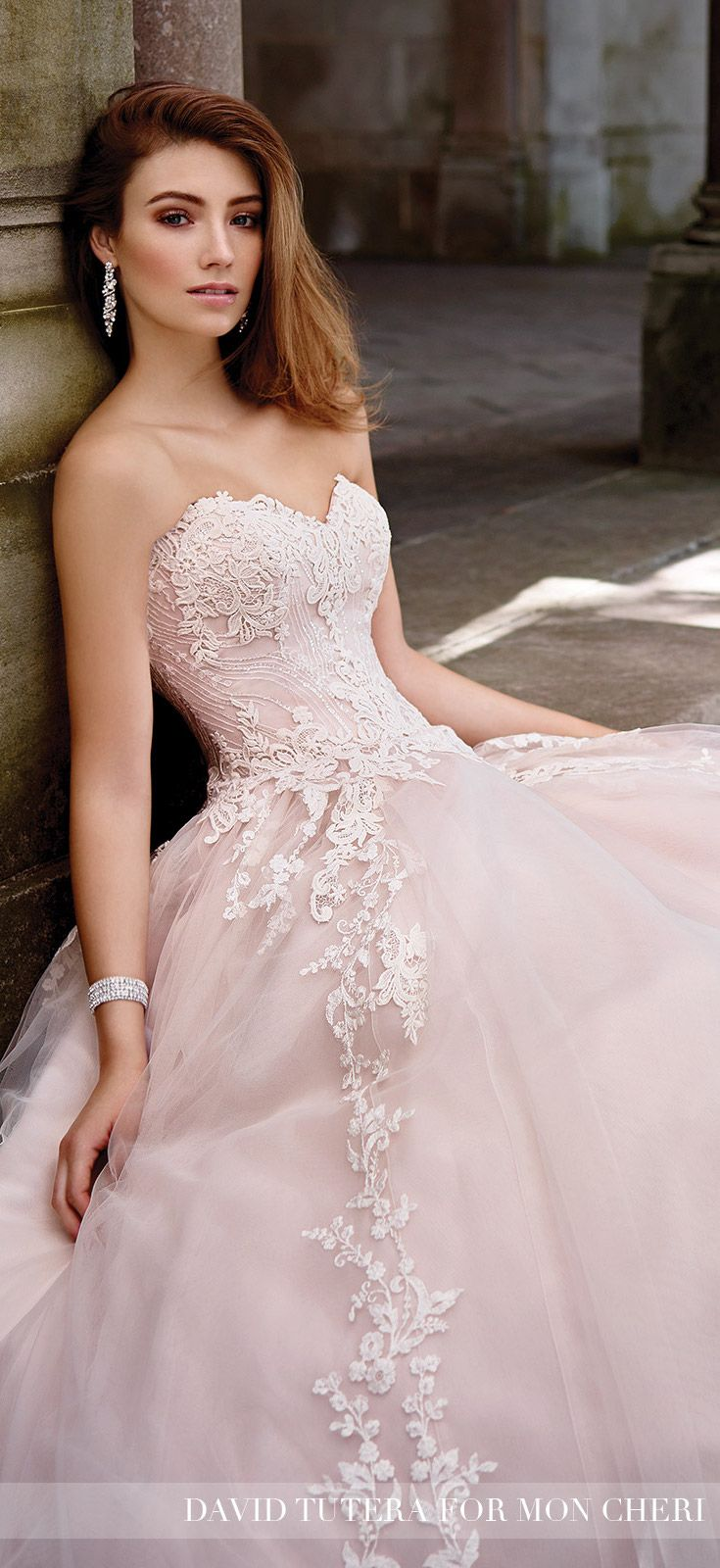 full a line wedding dress 117267 topaz david tutera wedding
