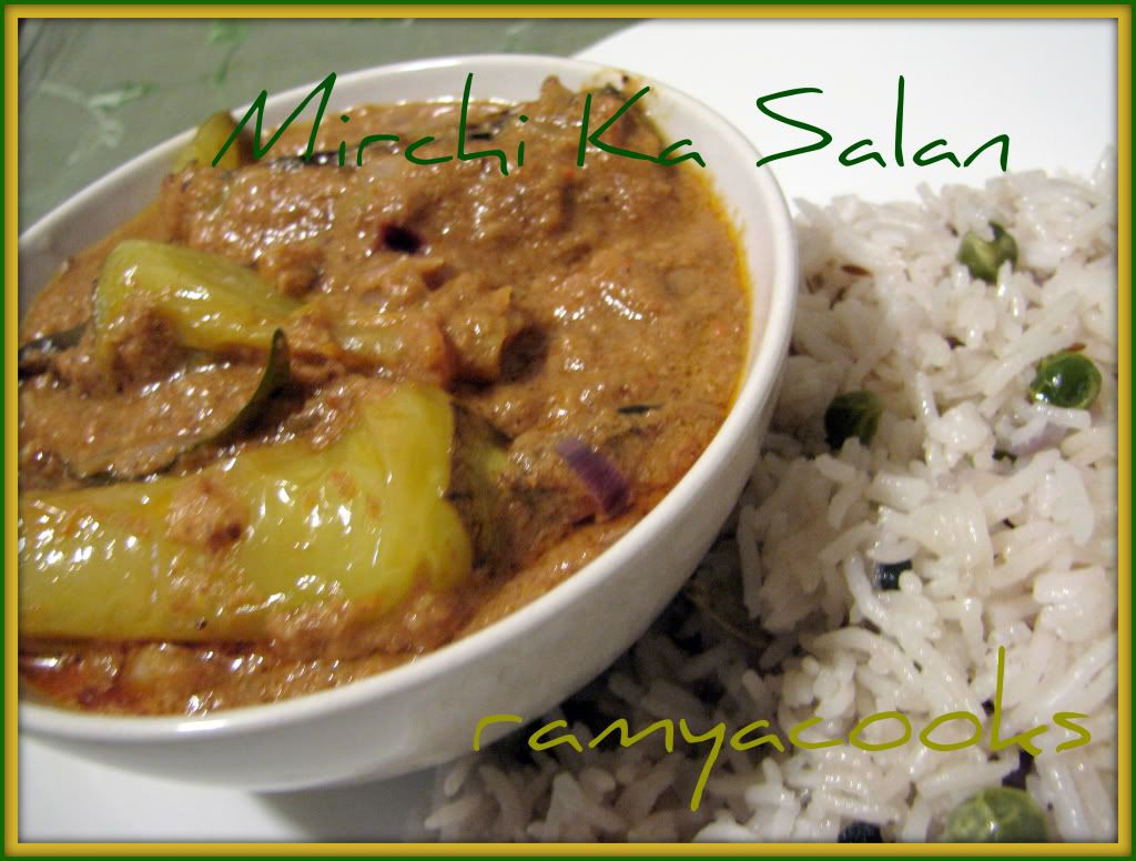 Mirchi Ka Salan Stuffed Peppers Indian Food Recipes Cooking