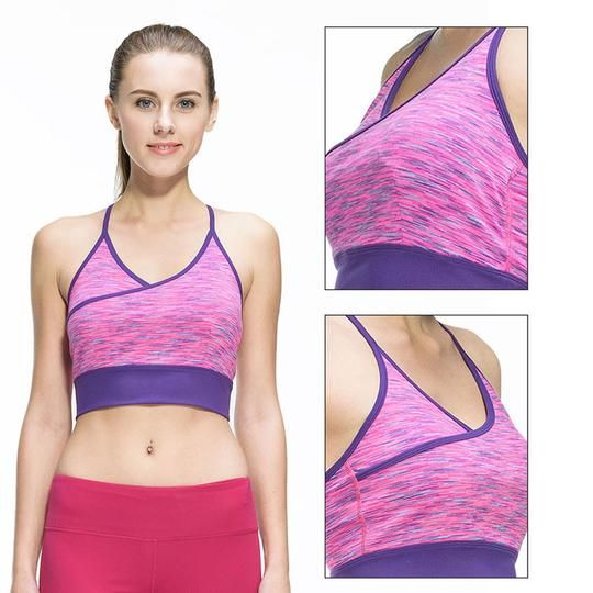8a11b006888f1 Women Fitness Sexy Yoga Sports Bra for Running Sports Gym Athletic Top Bra  Breathable Padded Stretch