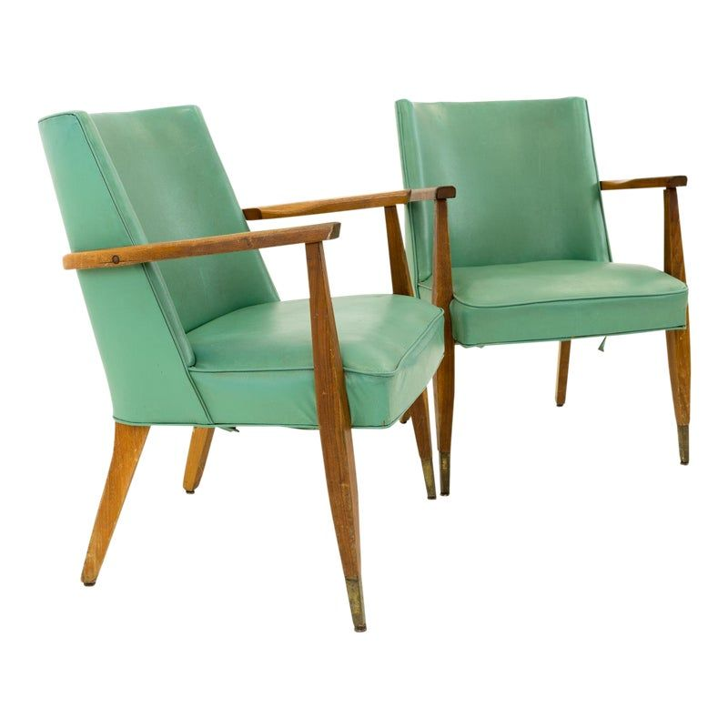 Vintage Mid Century Modern Kroehler Occasional Lounge Chairs A