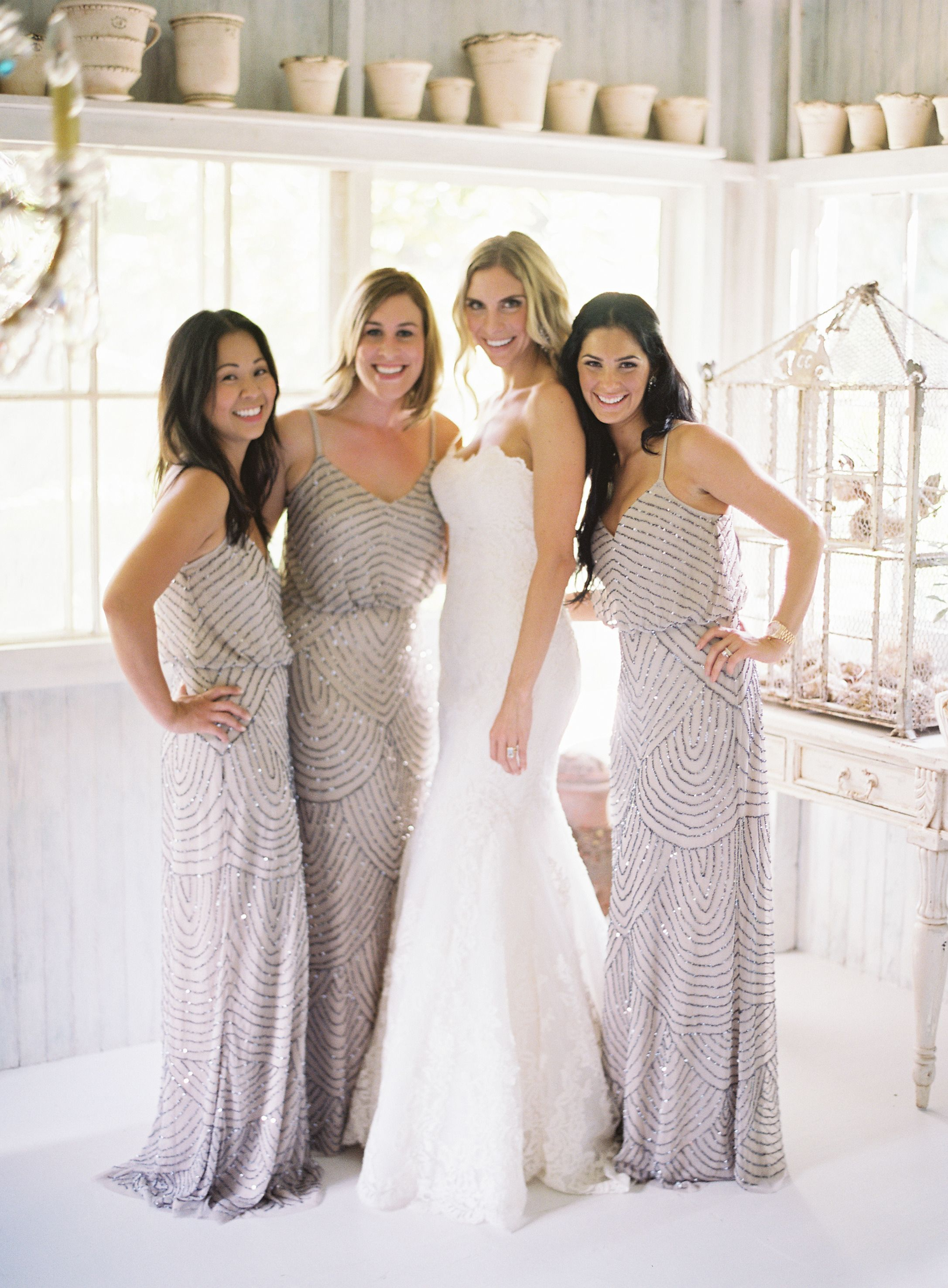 Destination glam haiku mill wedding beautiful wedding and brides a flattering style with a loose fit bodice and sequin beaded detailing throughout sparkly bridesmaid dresses ombrellifo Choice Image