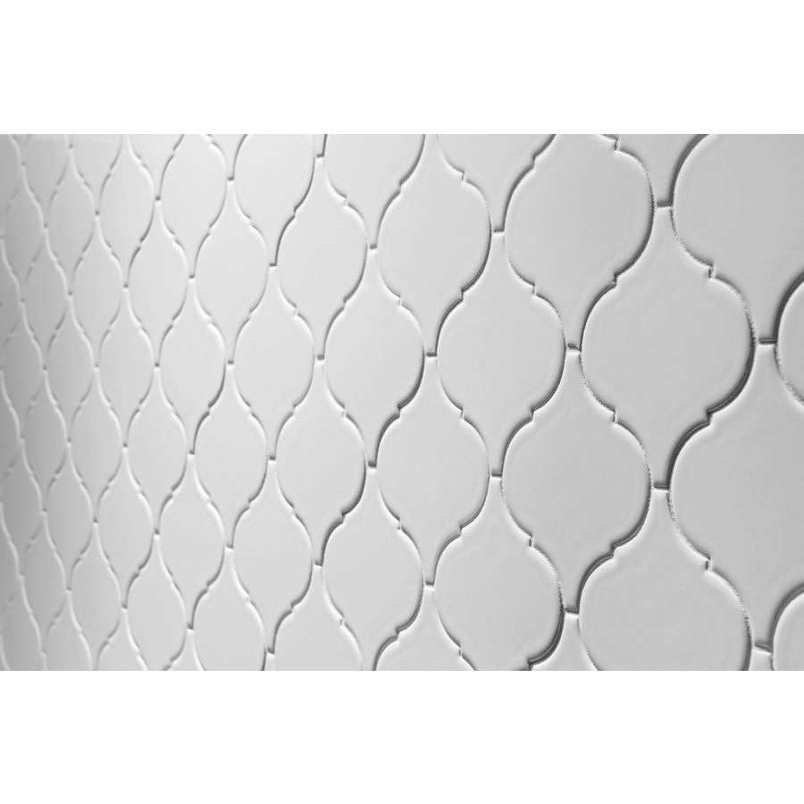 Shop allen roth 5 pack allen roth white ceramic wall tile shop allen roth 5 pack allen roth white ceramic wall tile common dailygadgetfo Choice Image
