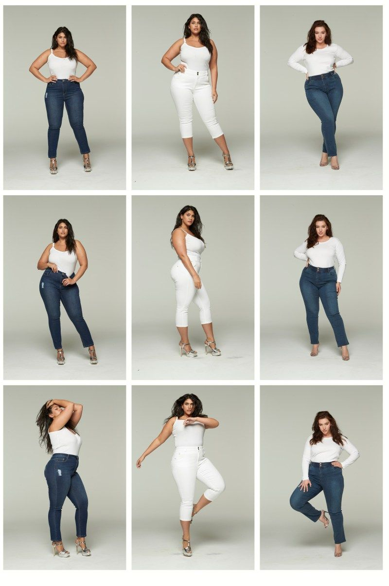 Photo of Plus Size Jeans, Stripes, and Sequins – Alexa Webb