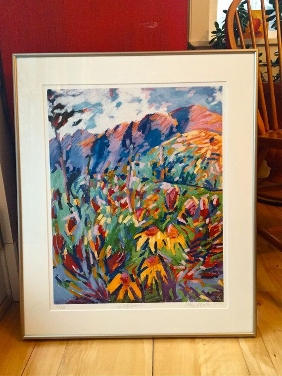 One Only. Matted and Framed. Wildflowers at Vail by HenryIsaacs