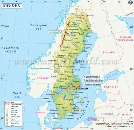Cool Sweden Map Sweden Map Map Sweden